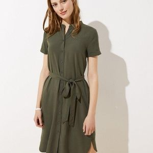 NWT LOFT Women's Tie Waist Shirt Dress